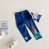 กางเกงเลกกิ้งเด็ก-Ariel-สีน้ำเงิน