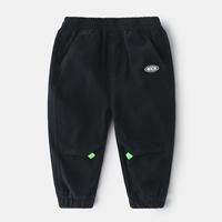 กางเกงเด็กขายาว-พื้นเรียบ-สีดำ