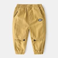กางเกงเด็กขายาว-พื้นเรียบ-สีกากี