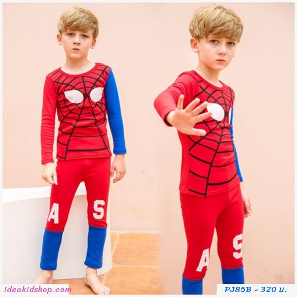 ชุดนอนเด็ก ลายหน้า Spiderman