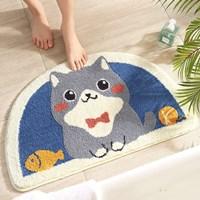 พรมเช็ดเท้า-Microfiber-ลายแมวเหมียว