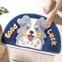 พรมเช็ดเท้า-Microfiber-ลายหมา-Good-Luck