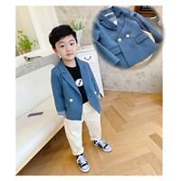สูทลำลอง-Korean-Kid-สีน้ำเงิน