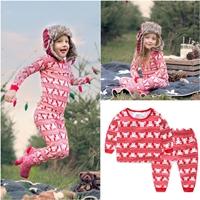 ชุดเสื้อกางเกง-Xmas-ลายหมี-สีแดง