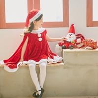 ชุดเดรสแซนตี้-Xmas_หมวก_ผ้าคลุมไหล่-สีแดง