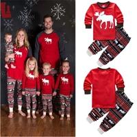 ชุดเสื้อกางเกง-Xmas-Santa-ลายกวางเรนเดียร์-สีแดง