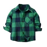 เสื้อเชิ้ตคอปก-ลายสก็อต-สีเขียว