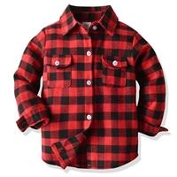 เสื้อเชิ้ตคอปก-ลายสก็อต-สีแดง
