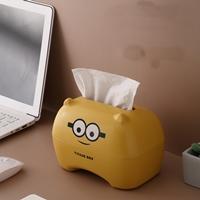 กล่องเก็บกระดาษทิชชู่-Minions-สีเหลือง