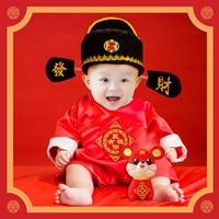 ชุดบอดี้สูทจีนตี๋น้อยพร้อมหมวก-สีแดง