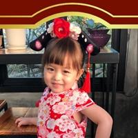 ที่คาดผม-มินิฮองเฮา-ลายดอกเหมยสีแดง