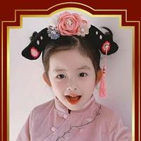 ที่คาดผม-มินิฮองเฮา-ลายดอกเหมย-สีชมพู