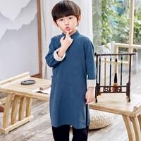 ชุดเสื้อกางเกงจีนจักรพรรดิ์-สีกรม