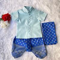 ชุดไทยเด็กชายพร้อมผ้าพาด-พี่หมื่น-สีฟ้าพาสเทล