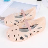 รองเท้าเด็ก-Solid--Nest--สีครีมอมชมพู