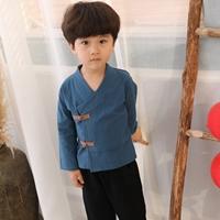 เสื้อตรุษจีนคอวี-สีกรม(เฉพาะเสื้อ)
