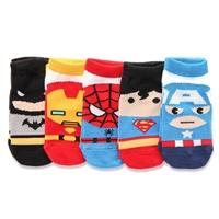 ถุงเท้าสั้นเด็ก-ลายSuper-Hero(เซต-5-คู่)