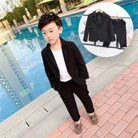 สูทลำลองคุณชาย-Korean-style-พร้อมกางเกง-สีดำ