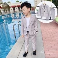 สูทลำลองคุณชาย-Korean-style-พร้อมกางเกง-สีเทา