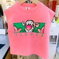 เสื้อยืดเด็กแขนเต่อ-ลายTigger-สีชมพู