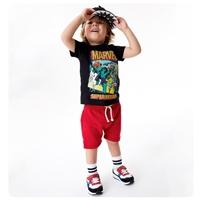 ชุดเสื้อกางเกง-Marvel-Superheroes-สีดำแดง