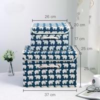 กล่องเก็บของอเนกประสงค์-ลายหมีขั้วโลก(ได้2ชิ้น)