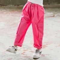 กางเกงเด็กขายาว-Hip-hop-สีชมพู