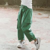 กางเกงเด็กขายาว-Hip-hop-สีเขียว