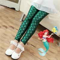 กางเกงเลกกิ้งนางเงือก-Mermaid-สีเขียว