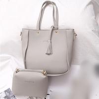 กระเป๋าสะพาย-Classic-Fashion-สีเทา-(ได้-2-ใบ)