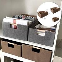 กล่องเก็บของอเนกประสงค์-สีน้ำตาล(ได้3ชิ้น)