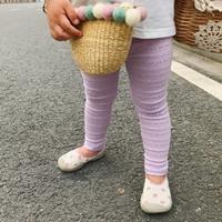 กางเกงเลกกิ้งฉลุลายลูกไม้-สีม่วง