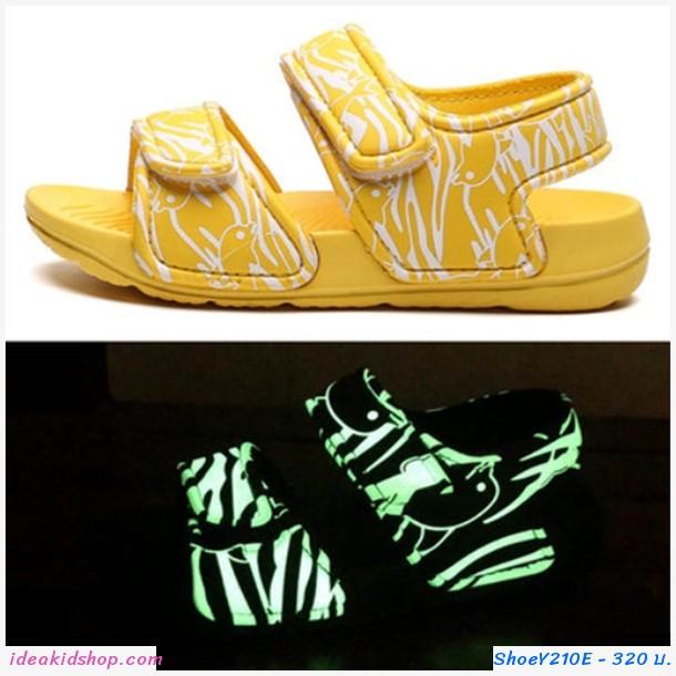 รองเท้ารัดส้น soft beach เรืองแสง สีเหลือง