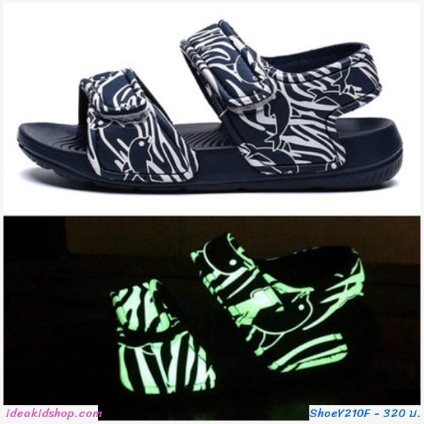 รองเท้ารัดส้น soft beach เรืองแสง สีดำ