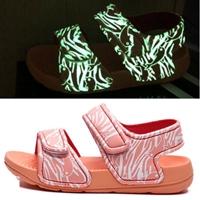 รองเท้ารัดส้น-soft-beach-เรืองแสง-สีชมพู