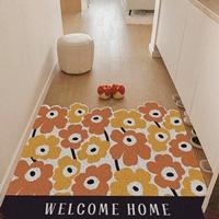 พรมดักฝุ่น-non-slip-mat-ลาย-Marimekko-สีส้ม