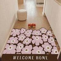 พรมดักฝุ่น-non-slip-mat-ลาย-Marimekko-สีชมพู