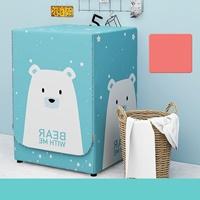 ผ้าคลุมเครื่องซักผ้าแบบฝาหน้า-7-11-kg-ลายหมีขาว