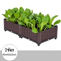 กระบะปลูกผัก-Balcony-vegetable-box(2ช่อง)