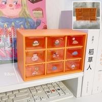 กล่องลิ้นชักเก็บของอเนกประสงค์-9-ช่อง-สีส้ม