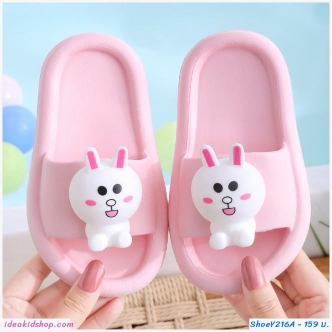 รองเท้าแตะ Children slippers แก๊งค์ไลน์ ลาย Cony