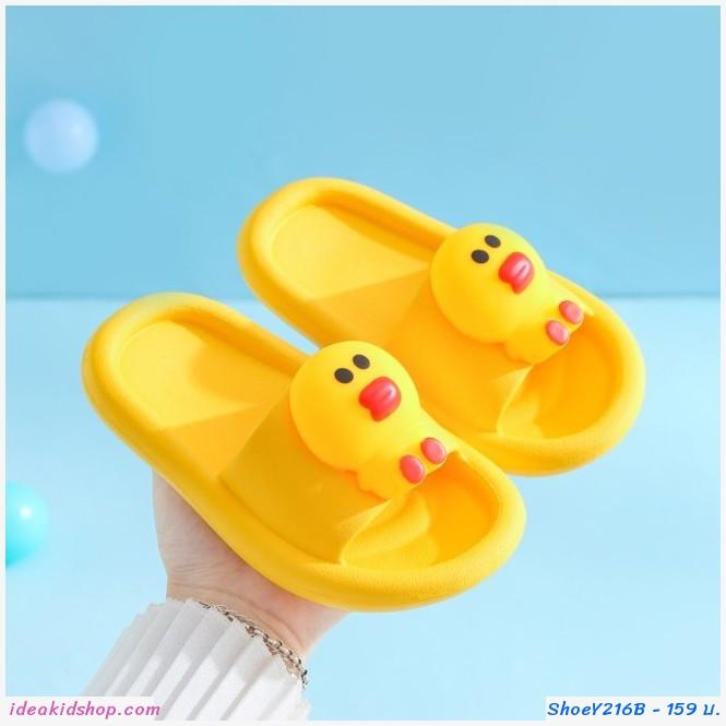 รองเท้าแตะ Children slippers แก๊งค์ไลน์ ลาย Sally