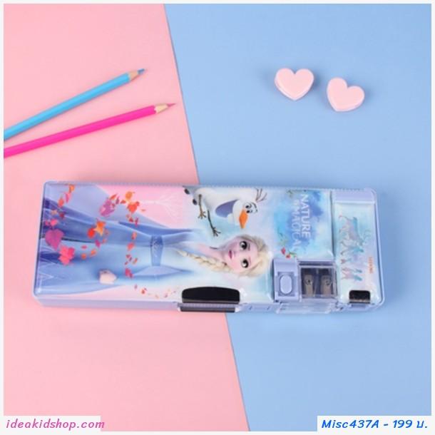 กล่องดินสอ 2 ด้าน ลาย Frozen สีฟ้าเข้ม