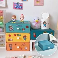 กล่องลิ้นชัก-Korea-Desktop-Storage-Box-แบบ-C(4-สี-4-ตัว)