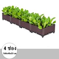 กระบะปลูกผัก-Balcony-vegetable-box(4ช่อง)