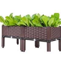 กระบะปลูกผัก-Balcony-vegetable-box(2-ช่องมีขา)