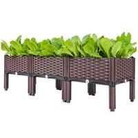 กระบะปลูกผัก-Balcony-vegetable-box(3-ช่องมีขา)