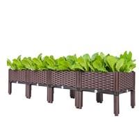 กระบะปลูกผัก-Balcony-vegetable-box(4-ช่องมีขา)
