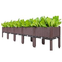 กระบะปลูกผัก-Balcony-vegetable-box(5-ช่องมีขา)