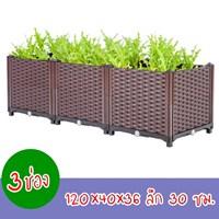 กระบะปลูกผัก-Balcony-box-แบบลึก-30-ซม.(3-ช่อง-ไม่มีขา)